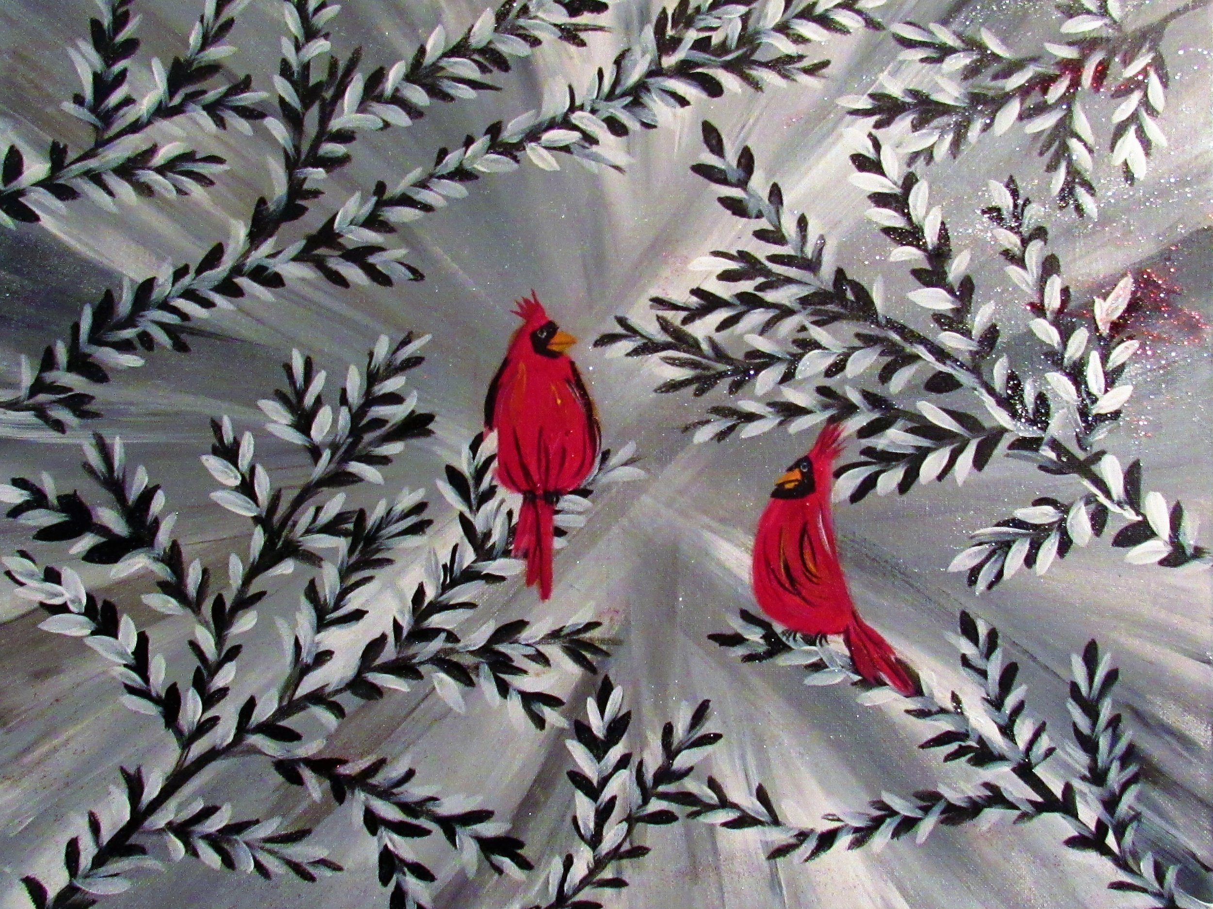 $35 Winter Cardinals