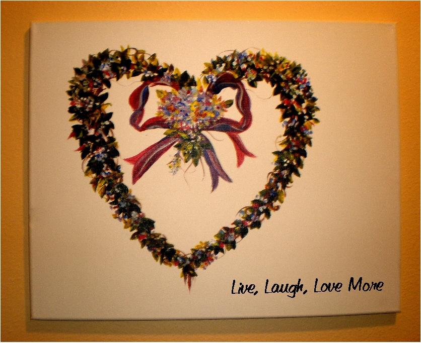 $35 Live, Love, Laugh Wreath