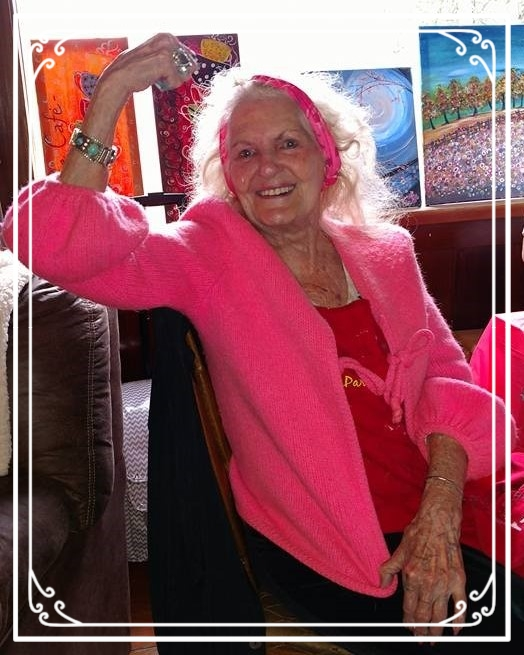 """Rosie The riveter, """"Did it"""" at age 94 at PaintnPartyOR, Mt. Adams, WA"""