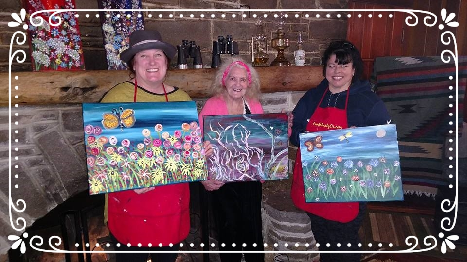 Rosie the Riveter at Flying L Ranch, Mt. Adams Weekend Retreat with PaintnPartyOR