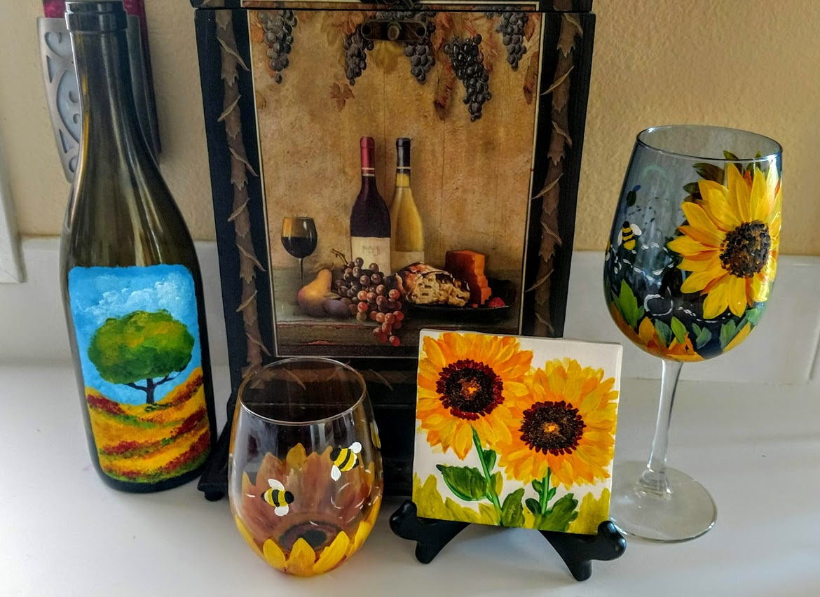 - BUSY BEE'S SUNFLOWERS WITH MY SPRINGHILL CELLARS SPECIAL EDITION PINOT GRIS