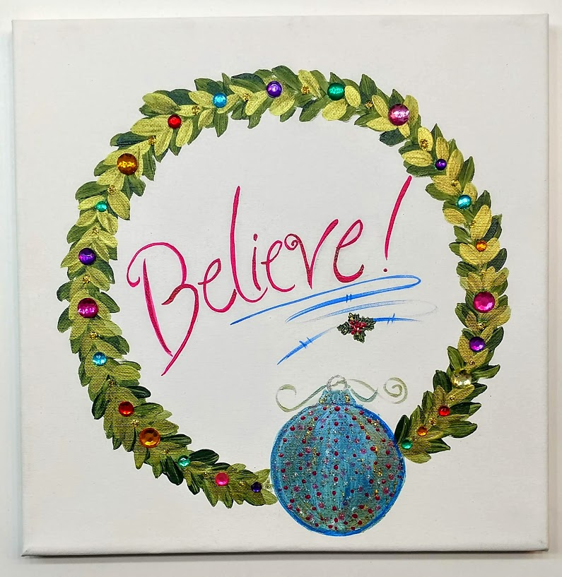 $35 Wreath Believe