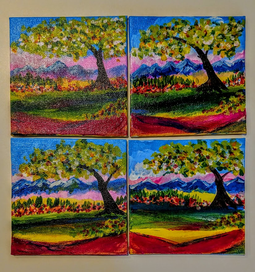 2/4x4 Painted Mountains