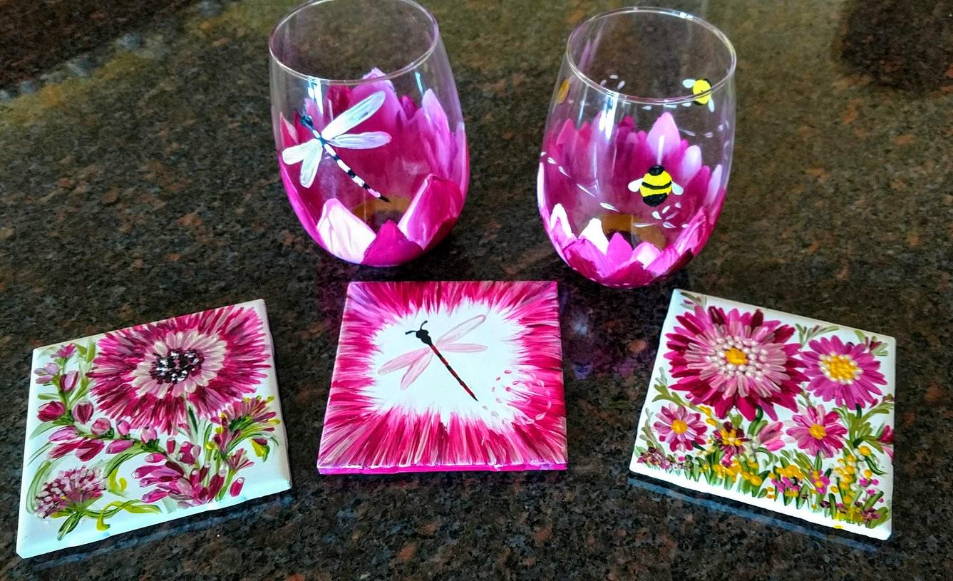 - 4/$40 PINKIES2 GLASSES & 2 TILES