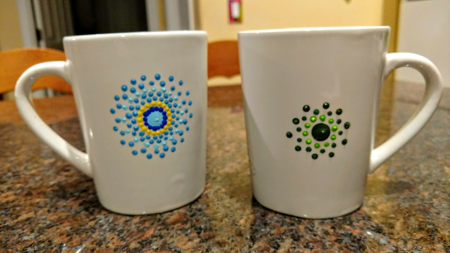 - backside view 2/$40 mandala mug & tile