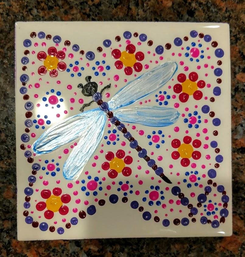 """6""""x6"""" Tiles - 2/$40 mandala """"dragonfly tiles"""