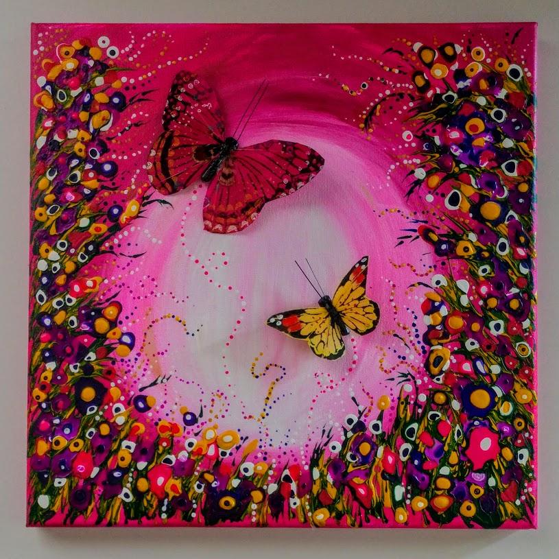 $40 Drippin' Dots 3D Butterflies