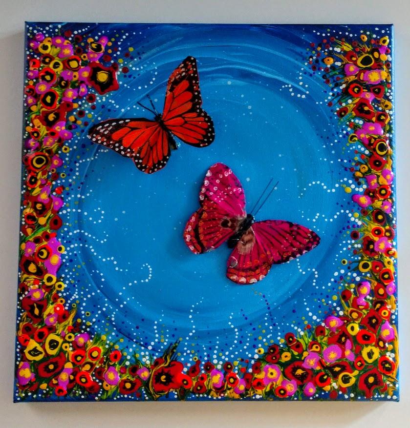 $40 Dripping Dots 3D Butterflies