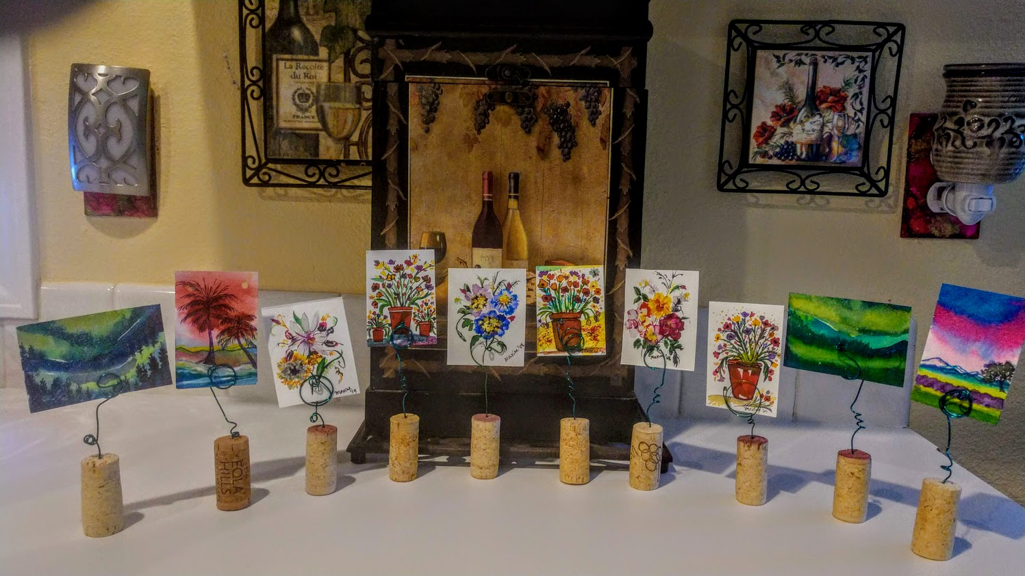 "MINIATURE WATERCOLOR PAINTINGS ""UNCORKED!"""