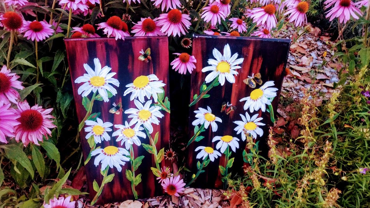 $40 Shasta Daisies 3D Butterflies (1)