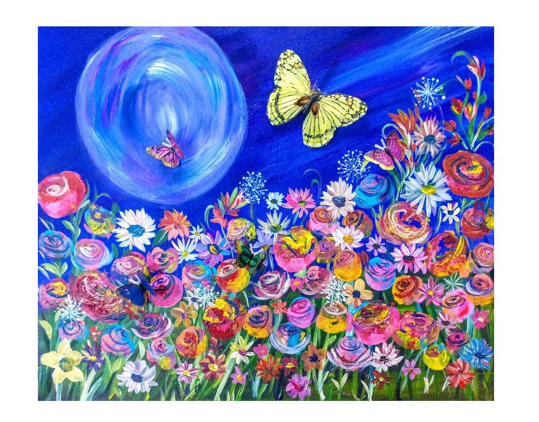 3D Butterfly Moon Garden $40