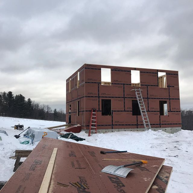 Battling the elements these days but we're ready for a roof anyway