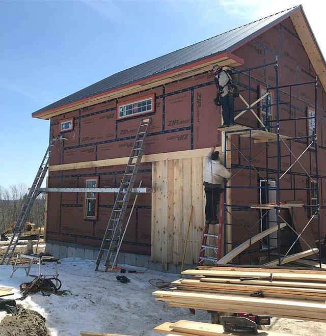 Siding on the way up
