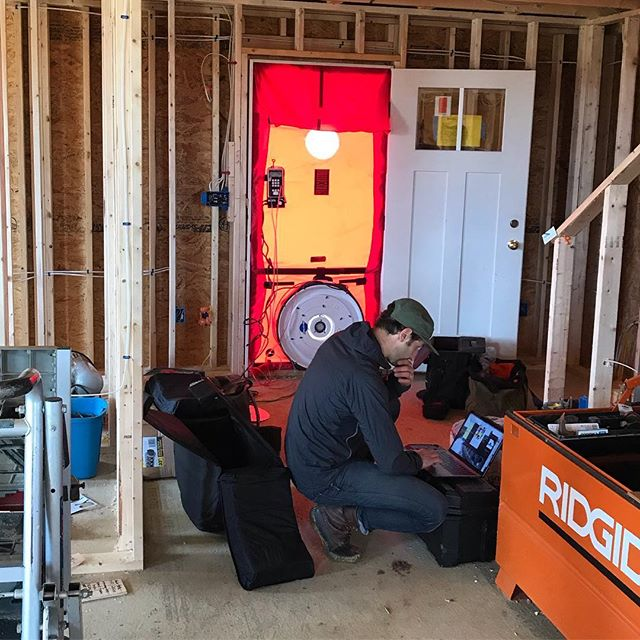 @hhefficiency crunching some numbers for the first blower door test.