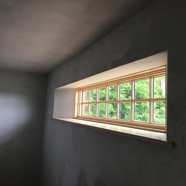 Plastered transom in the Plainfield house.