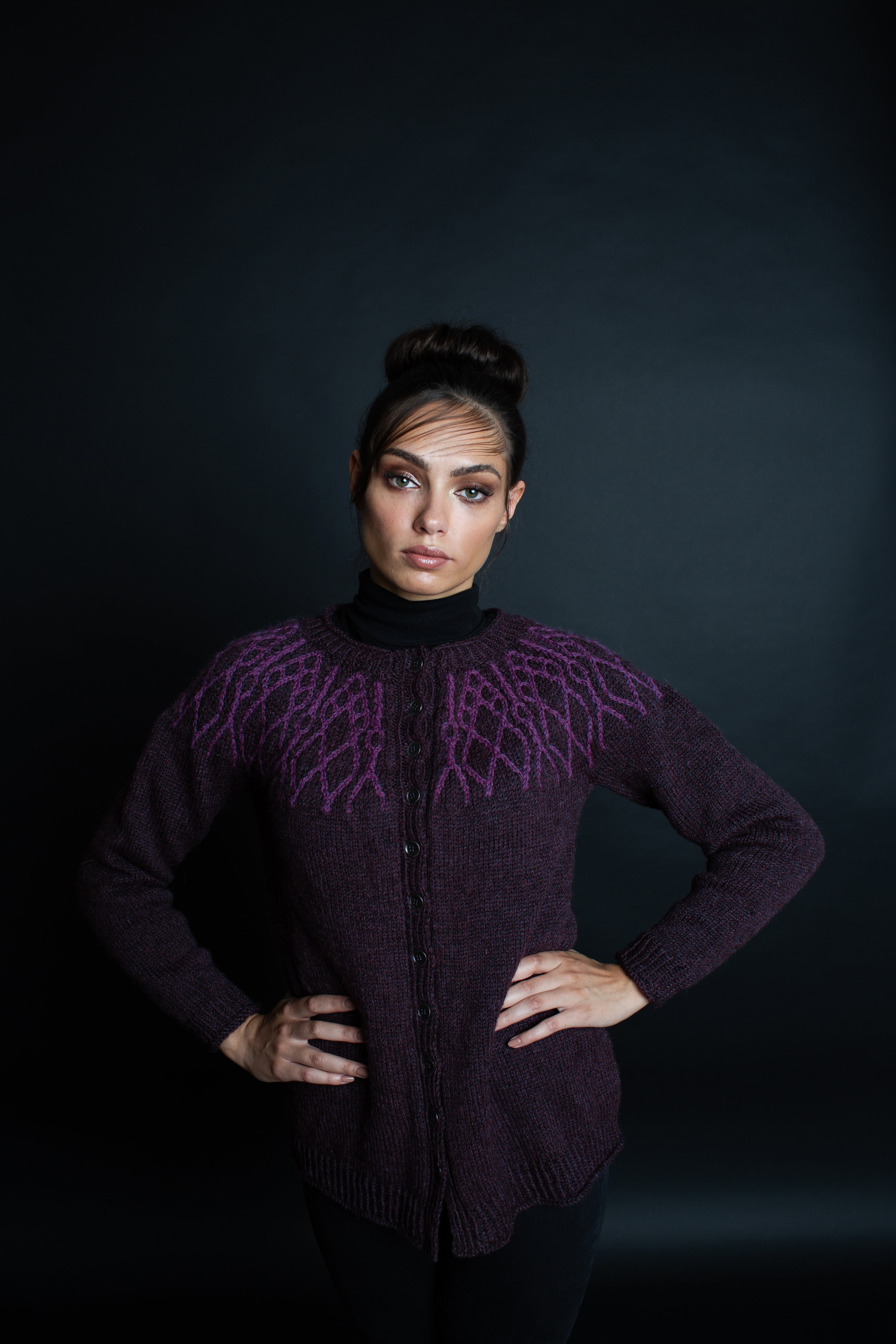 Alexandrite Cardigan by Amy Gunderson for JEWELS by Making Stories