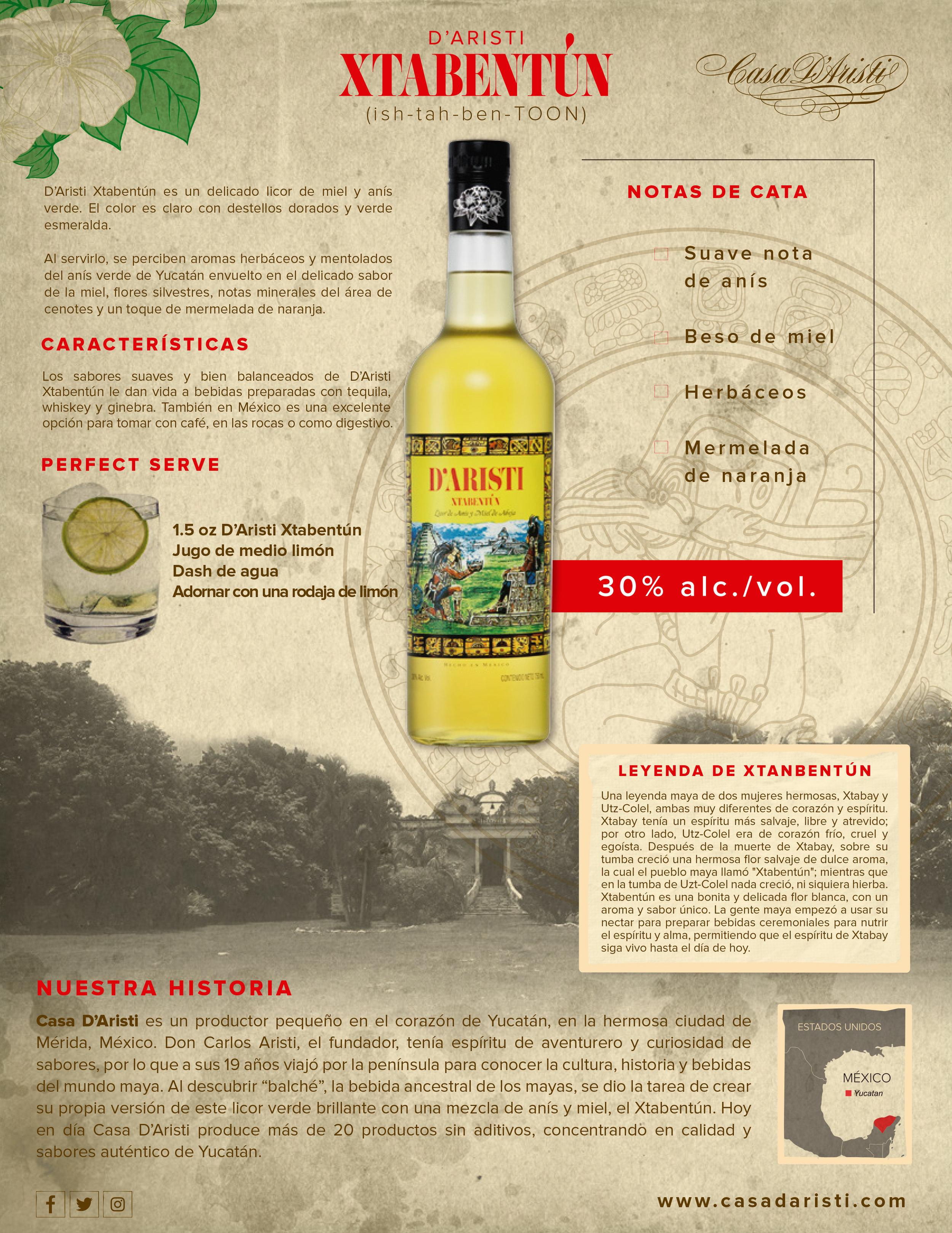 Xtabentún D'Aristi Casa D'Aristi Mexican Honey liqour