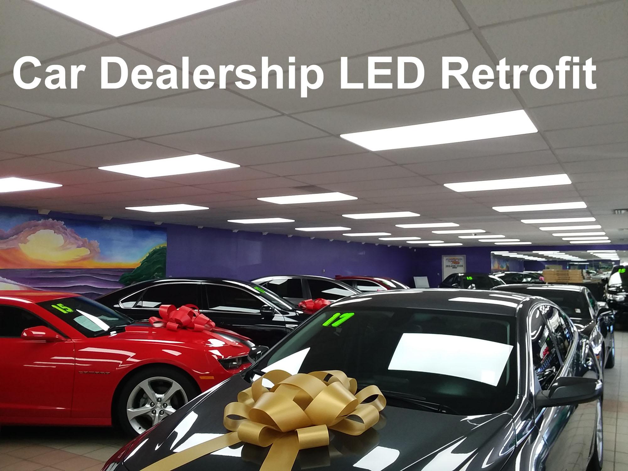 LED lighting for Car Dealership showroom in Denver, Colorado