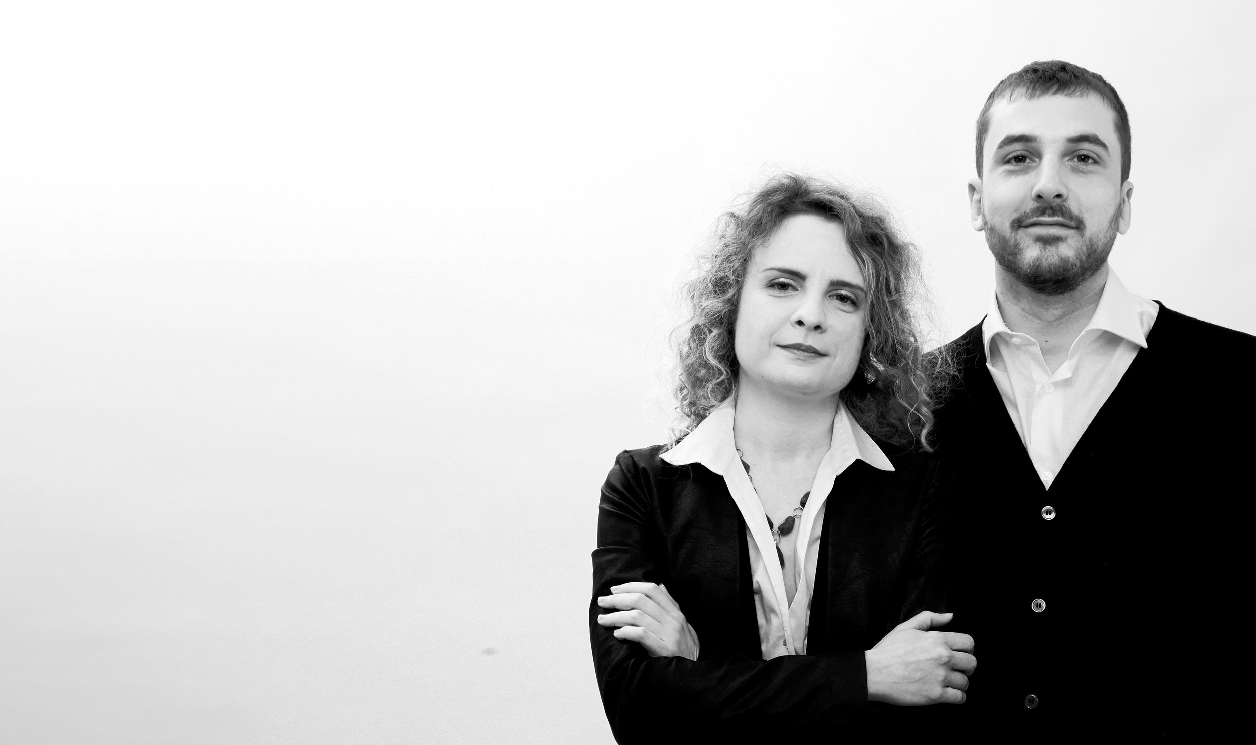Chiara and her co-founder Claudio.