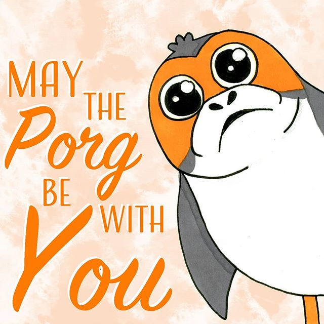Here a detail of one of my newest prints! The full print can be seen on my website (link in bio)  #porg #porgs #starwars #starwarsart #starwarsfanart #thelastjedi #episodeix #art #artist #artistsoninstagram #illustration #illustrator #porgart #kawaii #cute #animal #fanart