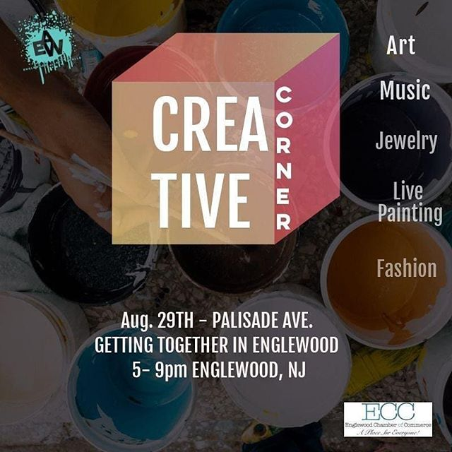 Tonight I'll be at @englewoodartwalls Creative Corner from 5 to 9pm! Come out and visit me and all of the other amazing artists
