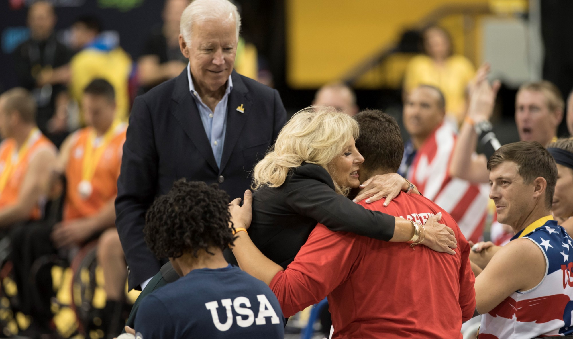 Vice President and Dr. Biden at the Invictus Games, an international sporting event for wounded, sick, or injured warriors.