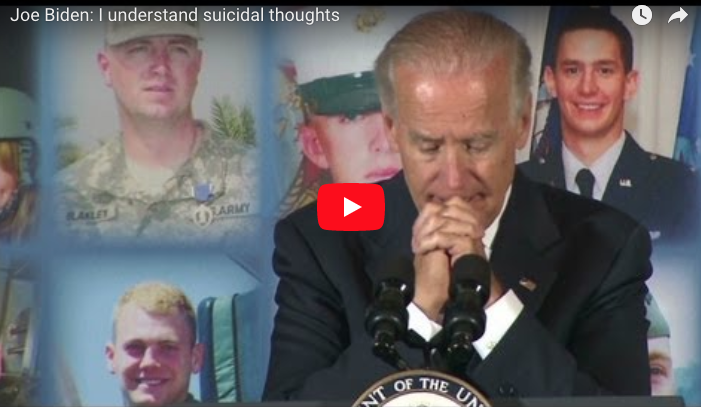 Joe Biden talked at the TAPS annual seminar for those mourning the loss of loved ones in the military.