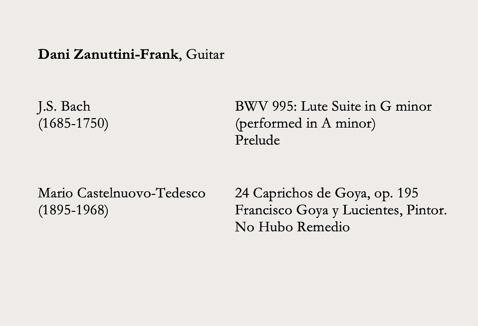 Dani Zanuttini-Frank program: June 21st Evening Concert