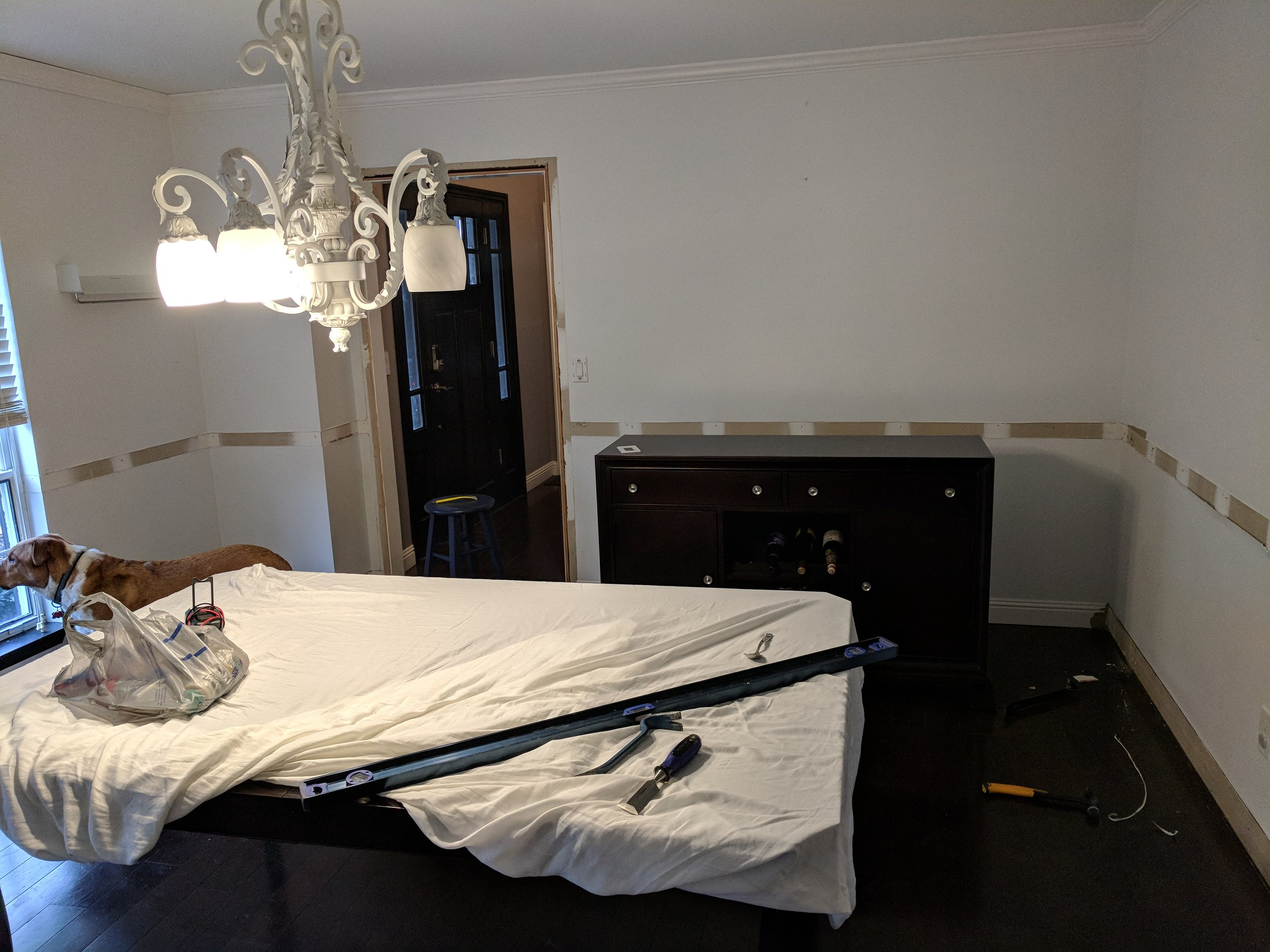 Here it is in all it's glory - this is week 1 of our dining room renovation.