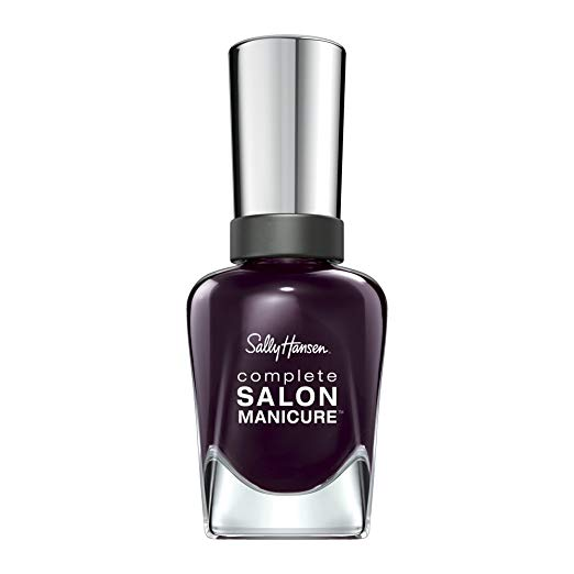 Sally Hansen's Pat on the Black  is one of my favorites. I love the purpley undertones and how it also reads black in some lights.