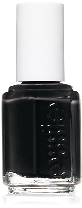 Black nails for fall are chic. Can't go wrong with  Essie Licorice . This one isn't super shiny or glittery (which can take you into Halloween territory really quick).