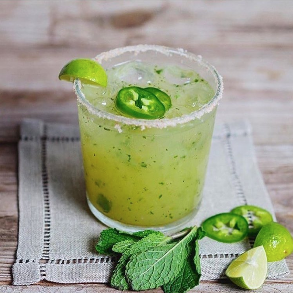 Recipe:   - 2 oz.  Tanteo Jalapeño Tequila   - 1 oz. Fresh Lime Juice  - 3/4 oz. Agave Nectar  - Fresh Mint   Directions   Combine ingredients in a shaker with ice, shake well and pour into an ice-filled Rocks Glass