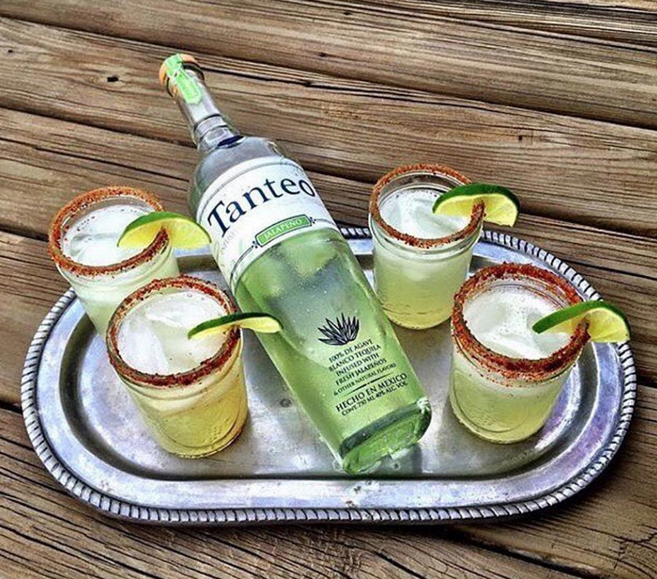 Recipe:   - 2 oz.  Tanteo Jalapeño Tequila   - 1 oz. Fresh Lime Juice  - 3/4 oz. Agave Nectar   Direction:   Combine ingredients in a shaker with ice, shake well and pour into an ice-filled Mason Jars.