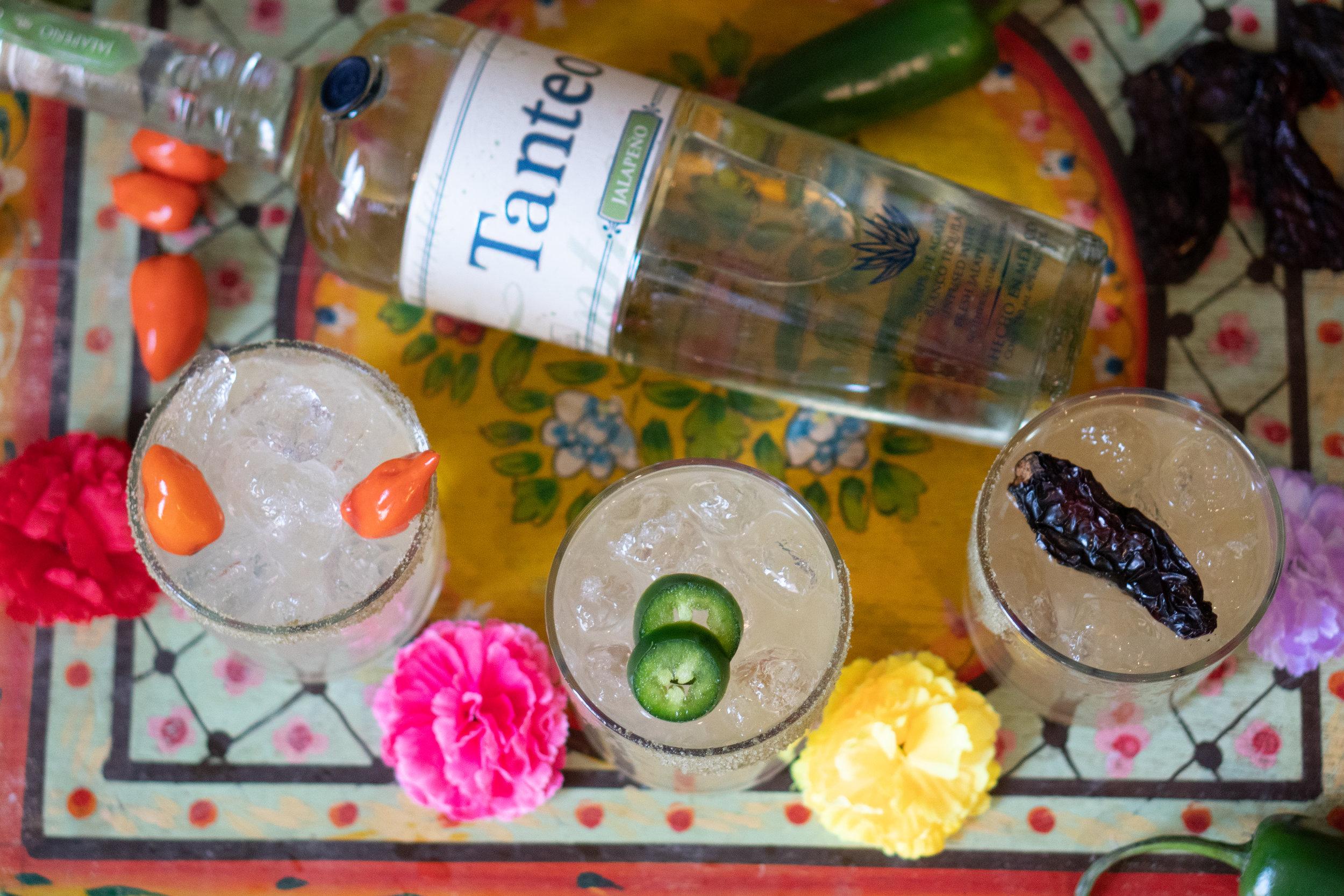 In a Cocktail   2 oz.  Tanteo Jalapeño Tequila   1 oz. Fresh Lime Juice  ¾ oz. Agave Nectar  Rim with  Tanteo Jalapeño Salt    In a Pitcher   12 oz.  Tanteo Jalapeño Tequila   8 oz. Fresh Lime Juice  4 oz. Agave Nectar  8 oz. Water