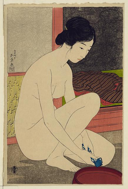 Woman After Bath / Library of Congress