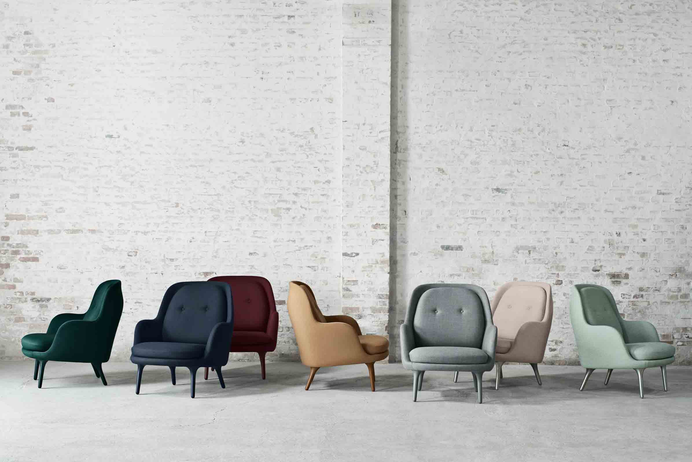 'Fri' chair in multiple colours, designed by  Jaime Hayon for Fritz Hansen