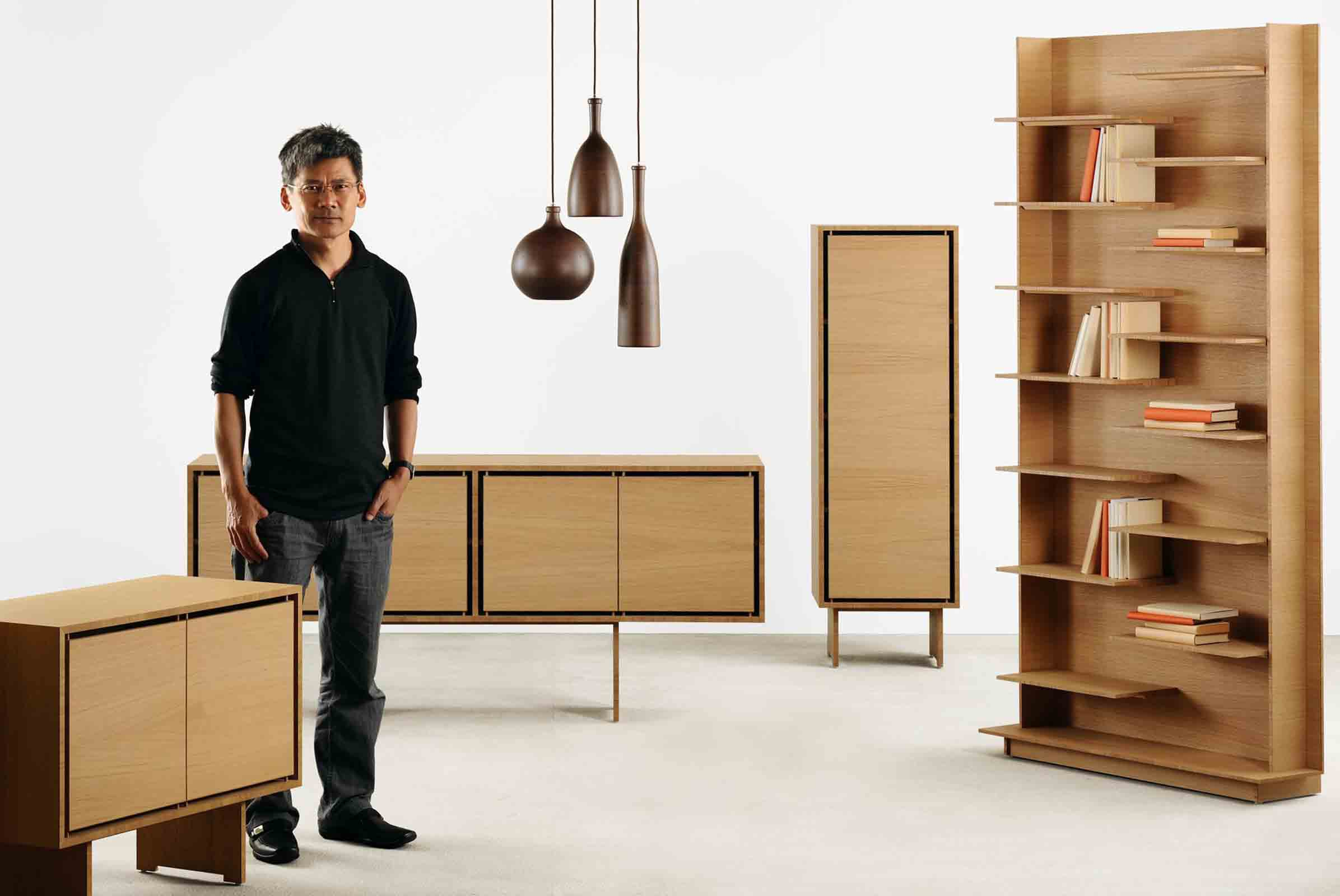 Award-winning Hong Kong furniture designer Samuel Chan of Channels with his 'Kerning' collection