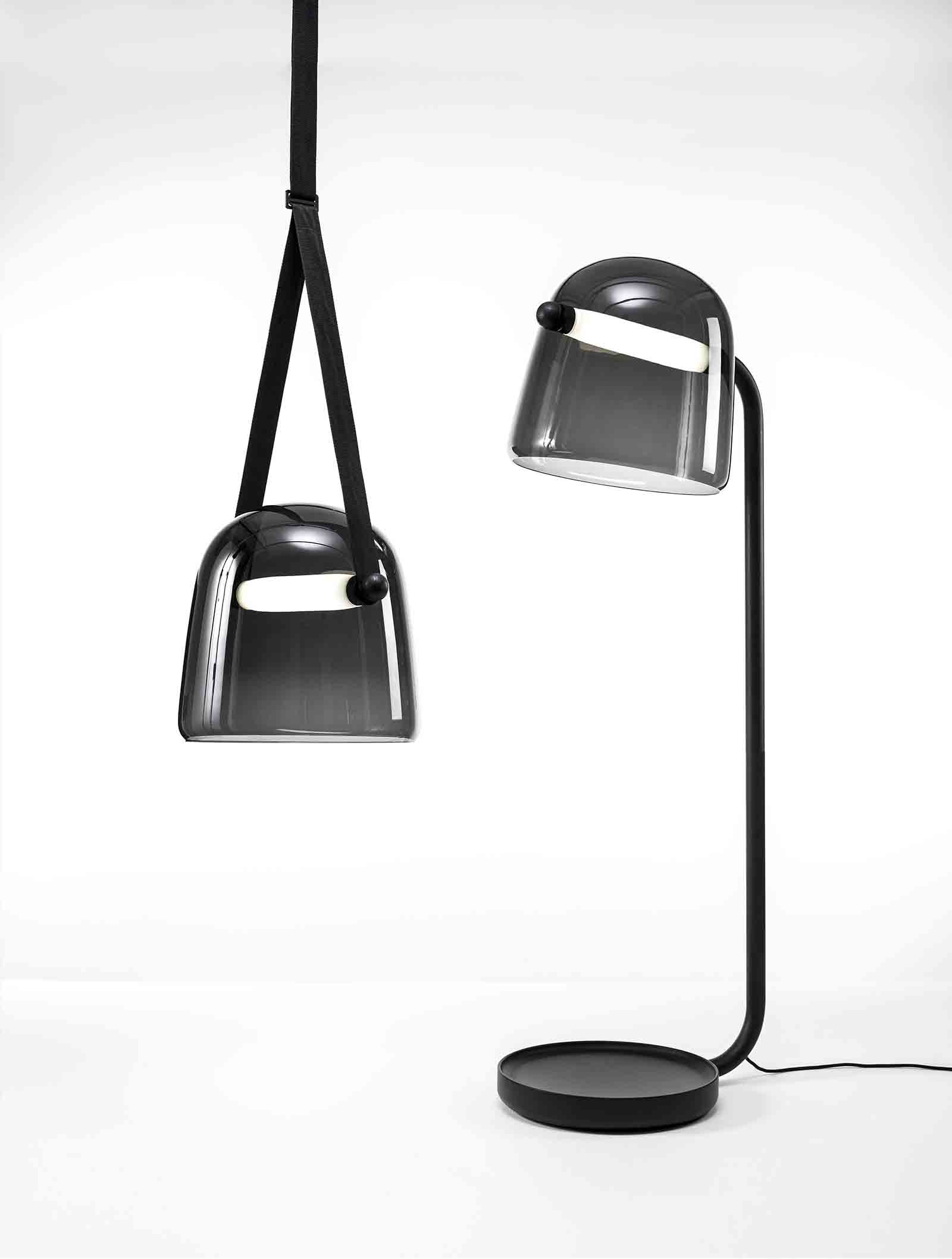 'Mona' pendant and floor lamps, designed by Lucie Koldova for Brokis