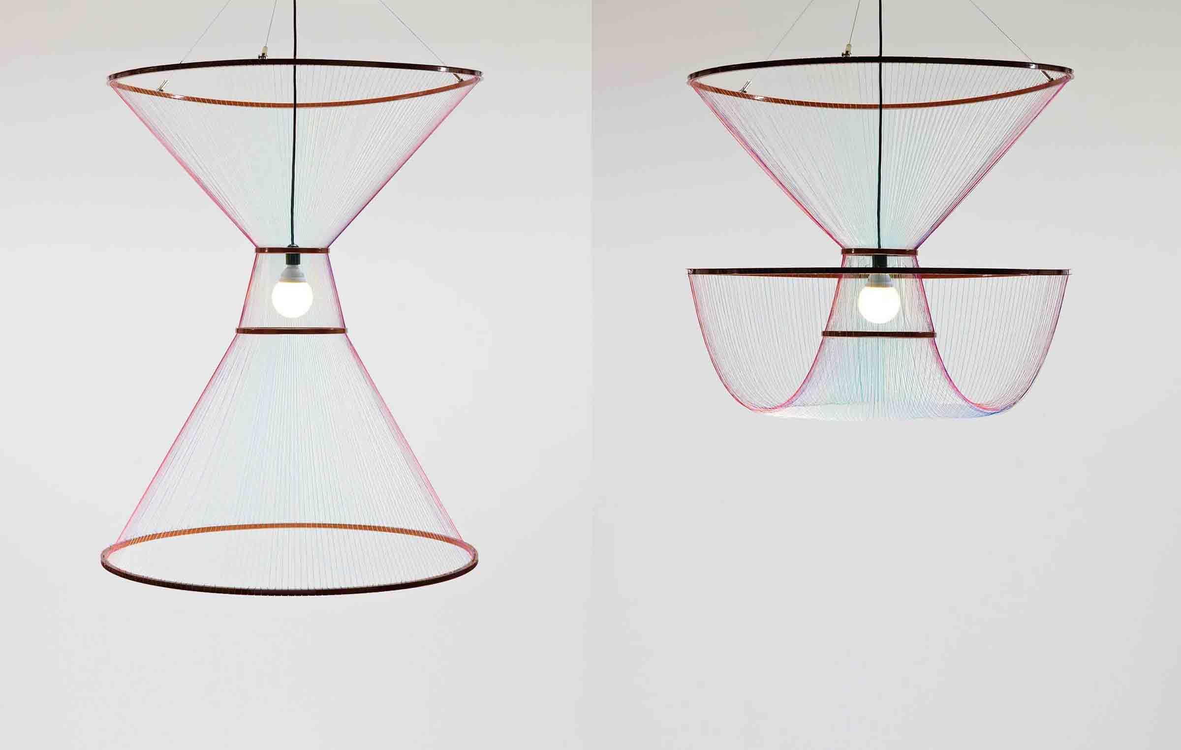 'Rhythm of Light' pendant, designed by Susanne de Graef for La Chance