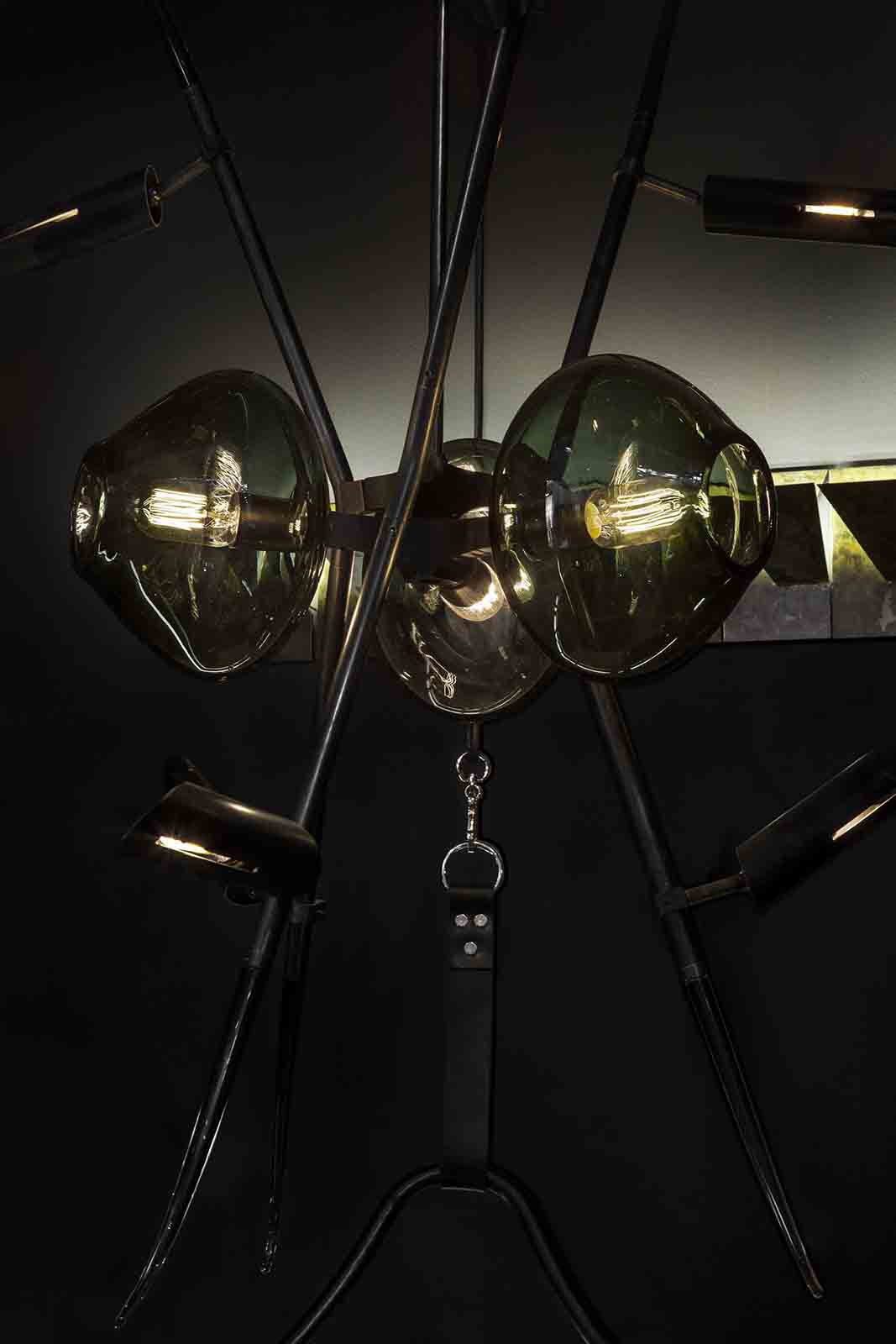 The stunning swing seat/light fitting installation by Lumifer