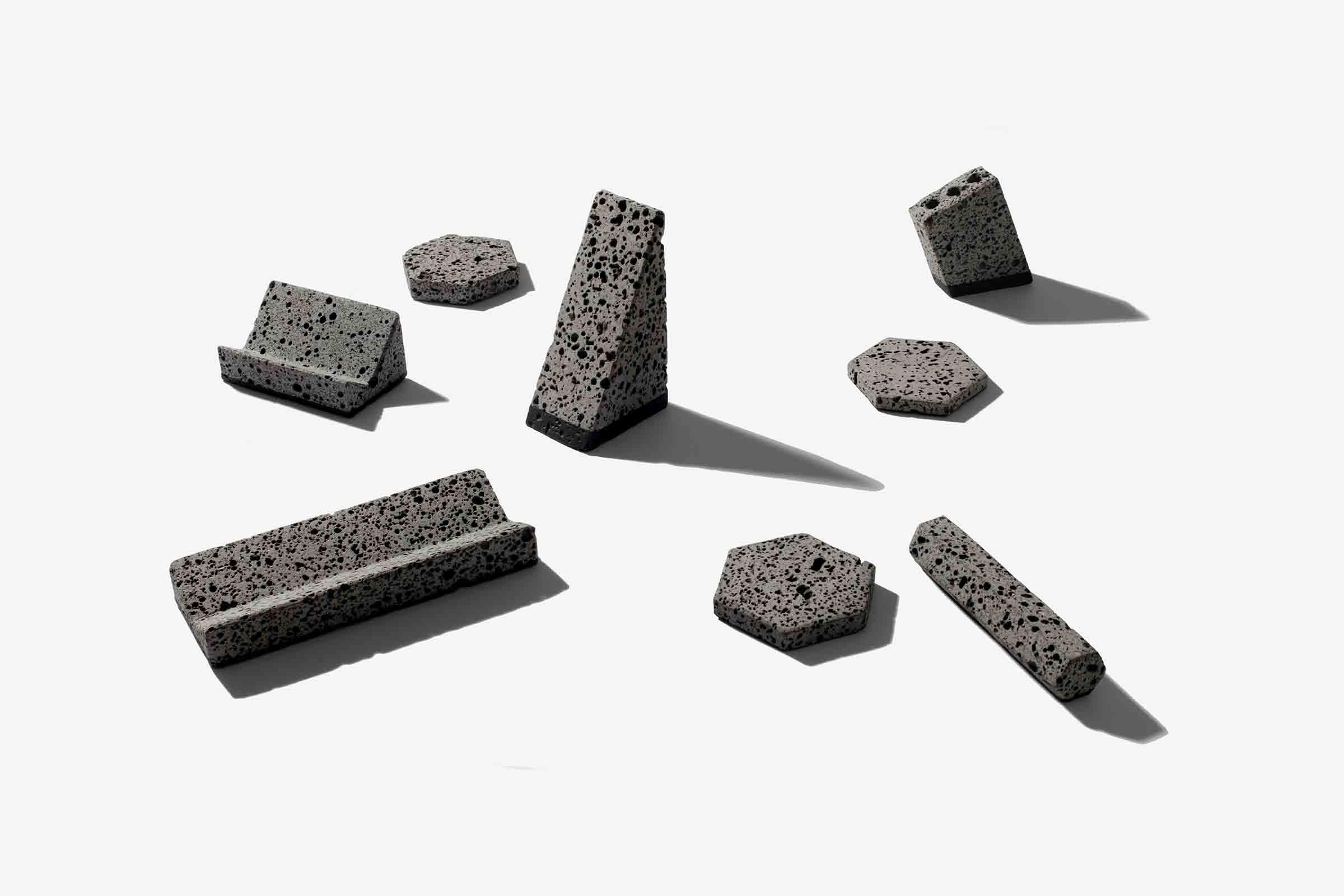 'Basalt' desktop accessories from Jeonghwa Seo
