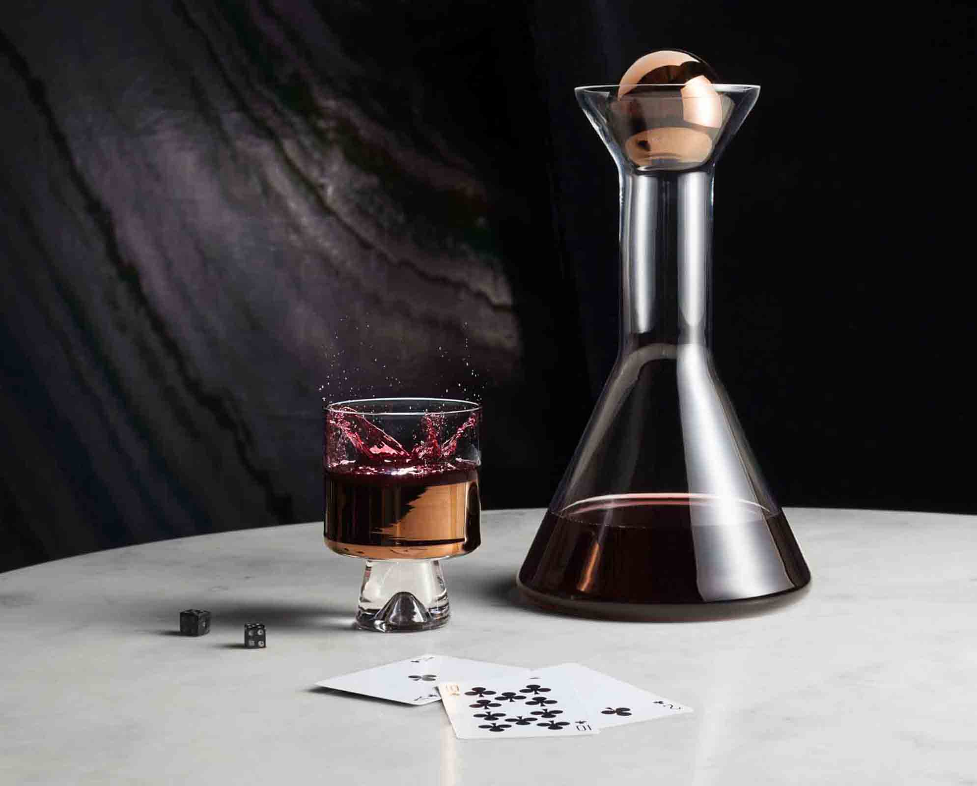 'Tank' glass and copper bar accessories from Tom Dixon