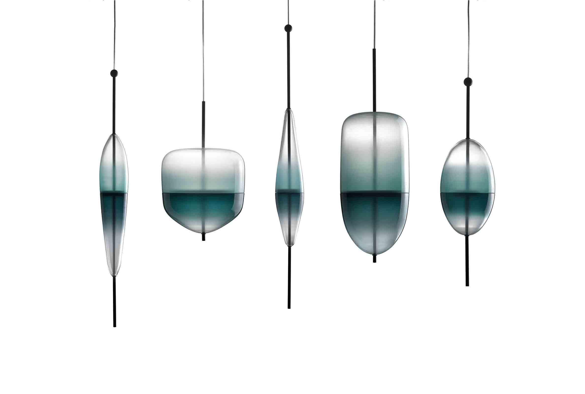 'FlowT' shapes installation by Nao Tamura for Wonderglass