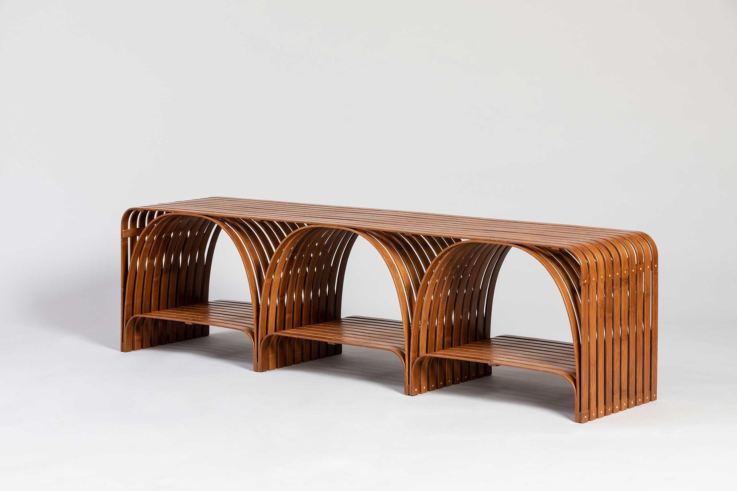 Sebastian Hercher — The Bridge Bamboo Bench