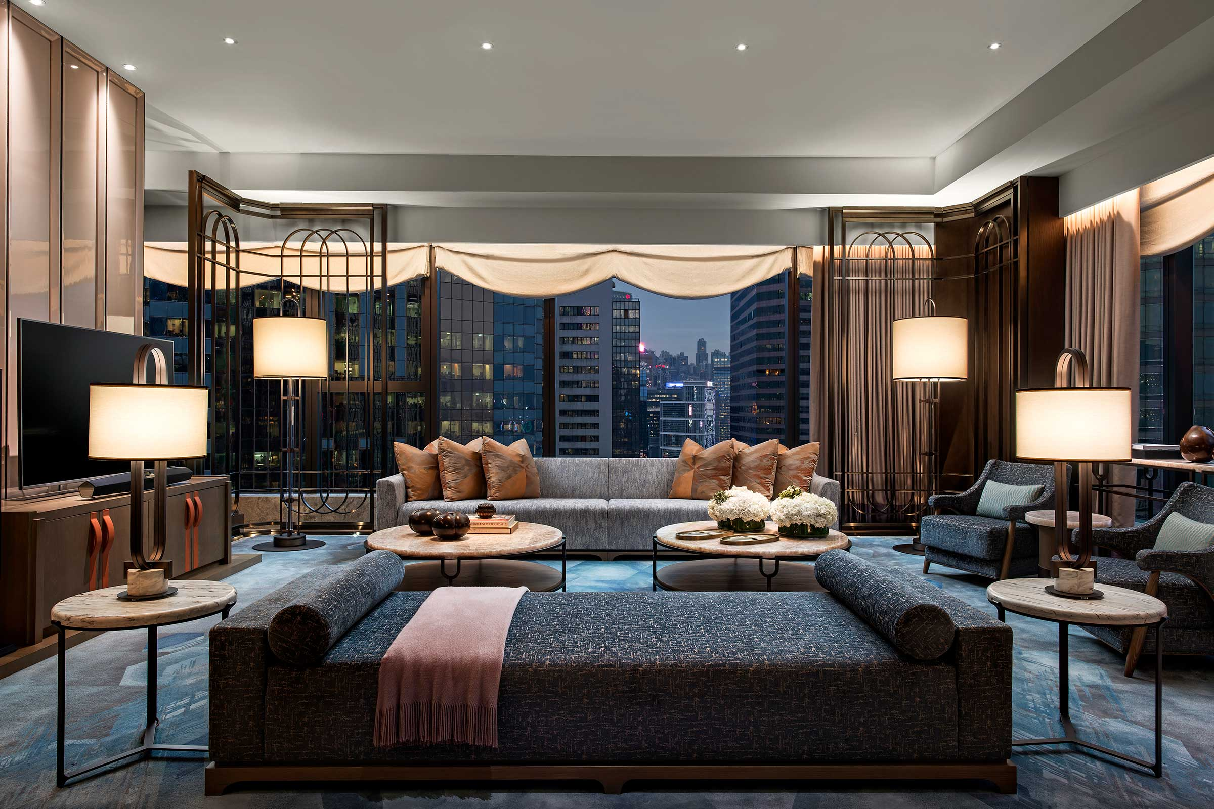 St.-Regis-Hong-Kong,-Presidential-Suite,-Living-Room,-Evening.jpg