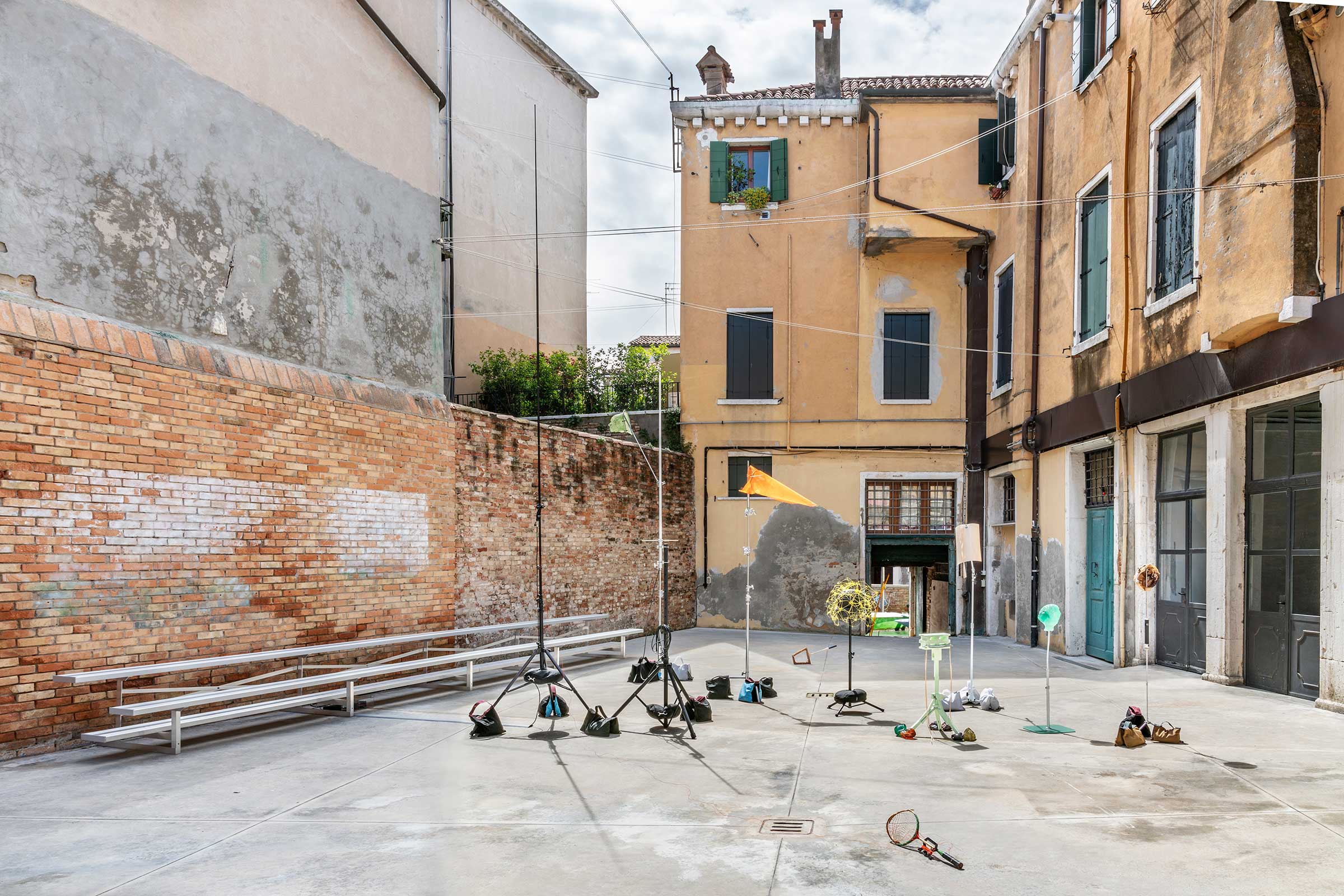 Playcourt , installation view of  Shirley Tse: Stakeholders, Hong Kong in Venice , 2019. Image by Ela Bialkowska, OKNOstudio. Courtesy of M+ and the artist