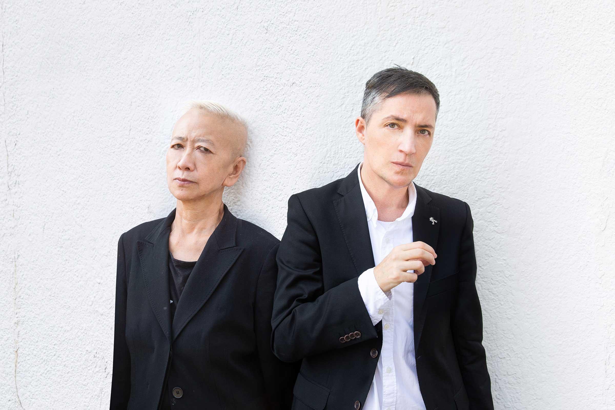 Shu Lea Cheang with curator Paul B Preciado. Image ©TFAM