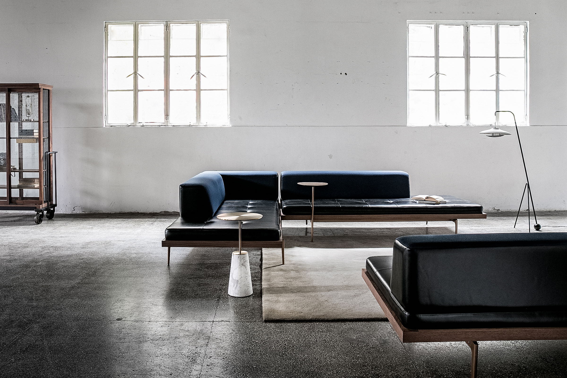 Neri&Hu's Cabinet of Curiosity Read, Discipline sofa and Bund table for Stellarworks