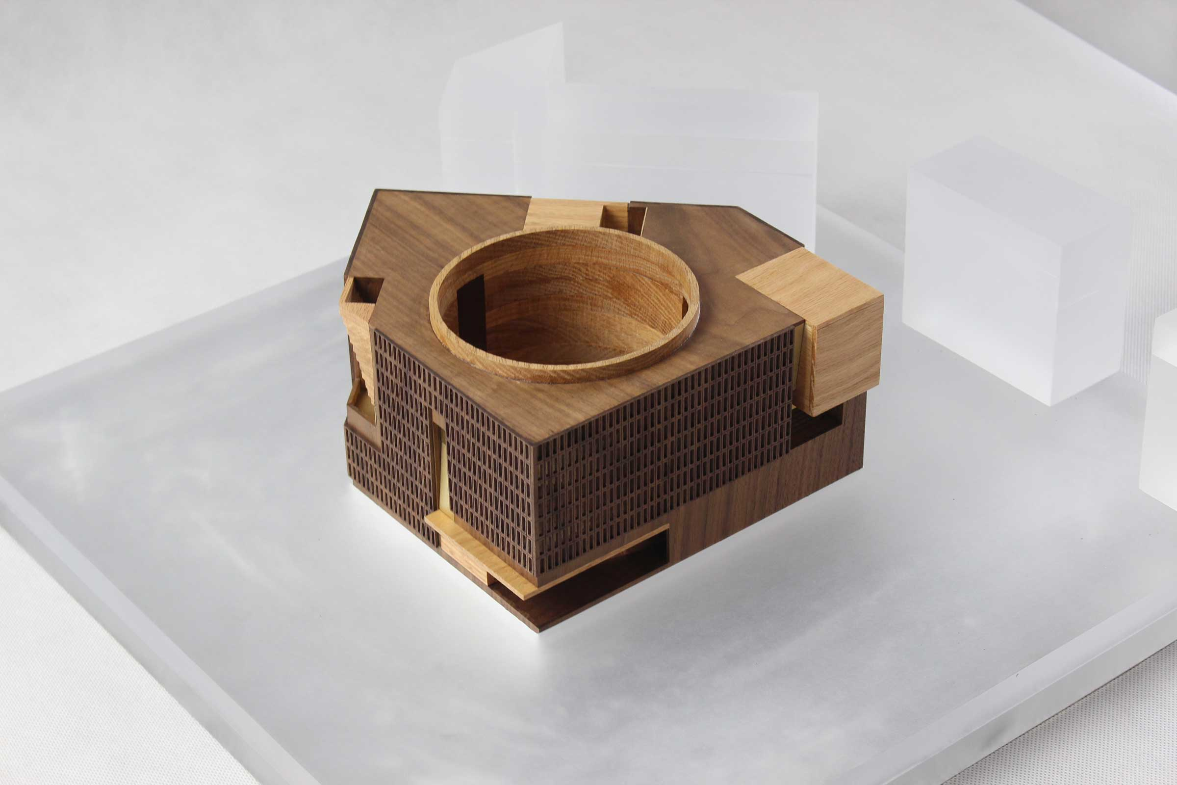 A model of the centre, from Neri&Hu Design and Research Office