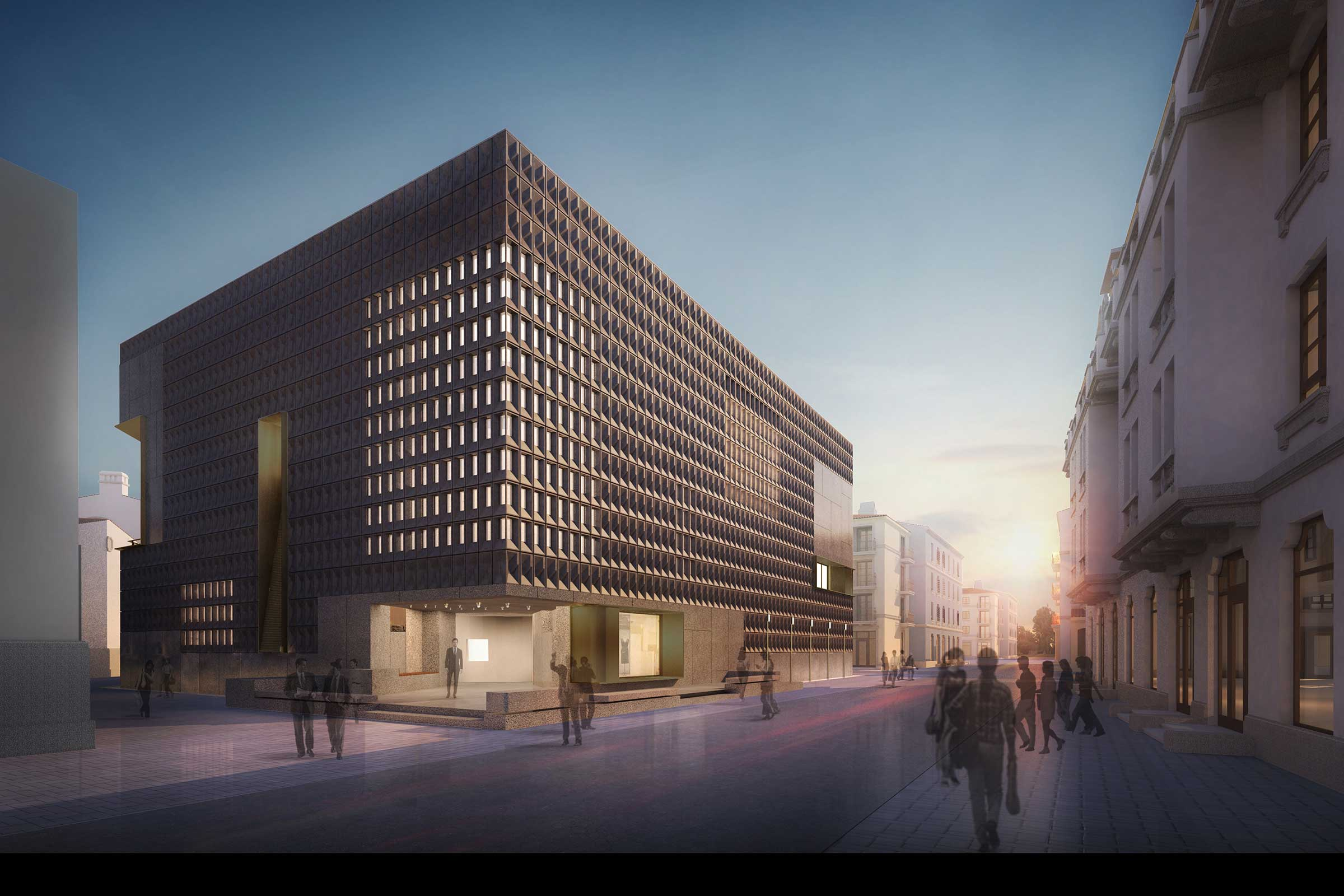 A render of the art centre from Neri&Hu Design and Research Office